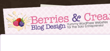 Berries and Cream Blog Design - Yummy WordPress Websites for the Solo Entrepreneur
