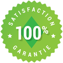 100% satisfaction guarantie